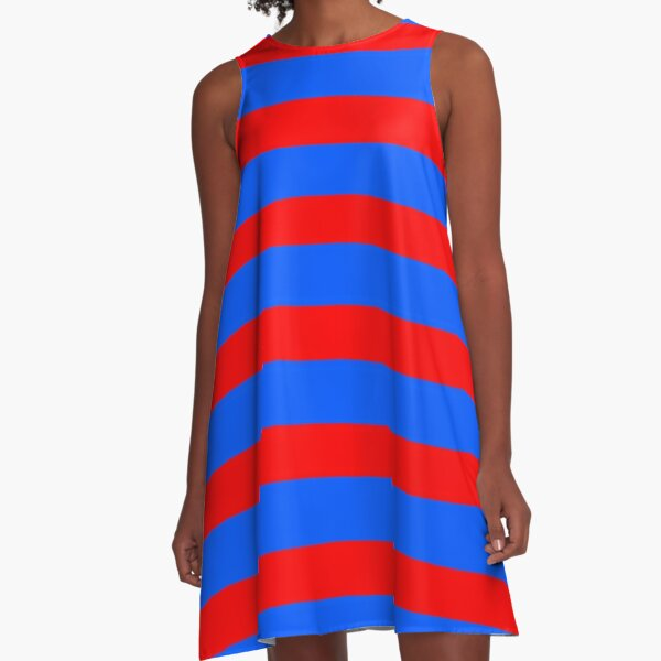 Red and blue A-Line Dress