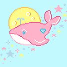 Space Whale in Pink by FrogNebula