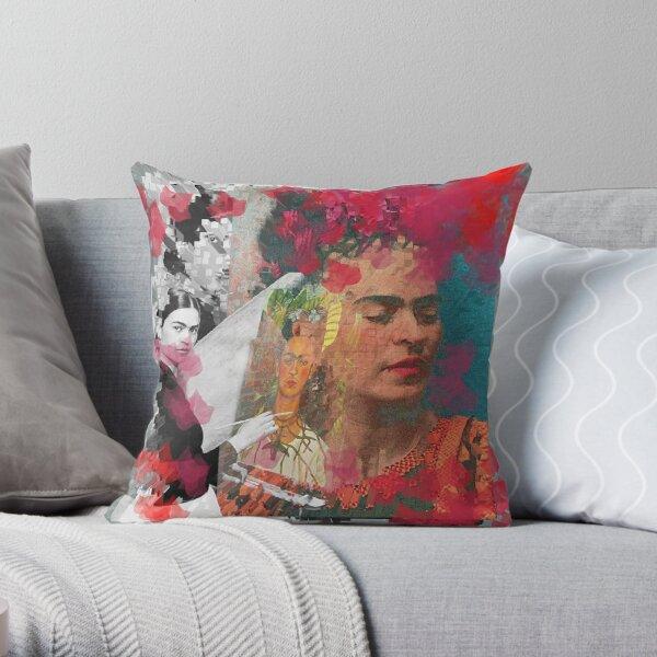 Frida Khalo - Peinture numérique cubique par Iona Art Digital Coussin