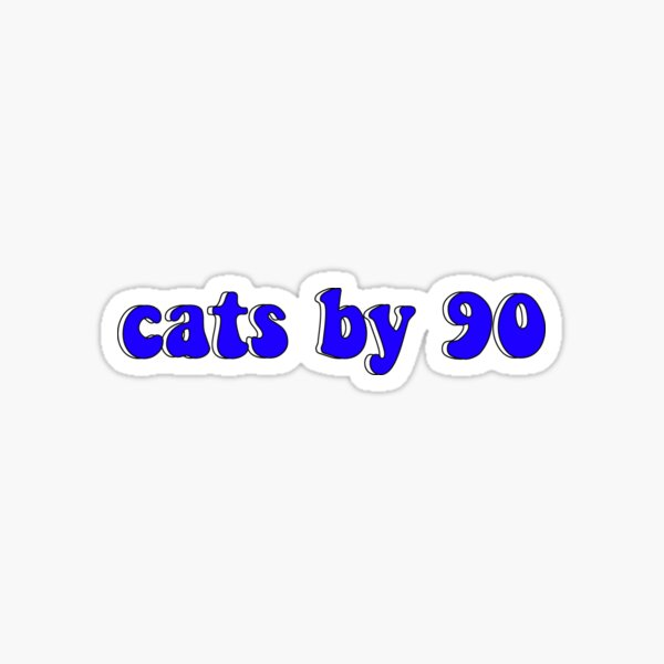 cats by 90 Sticker