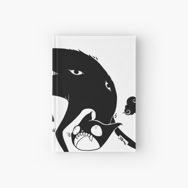 Black Many Eyed Goth Cat Hardcover Journal