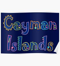 Cayman Islands Beach und Resort Gear Poster