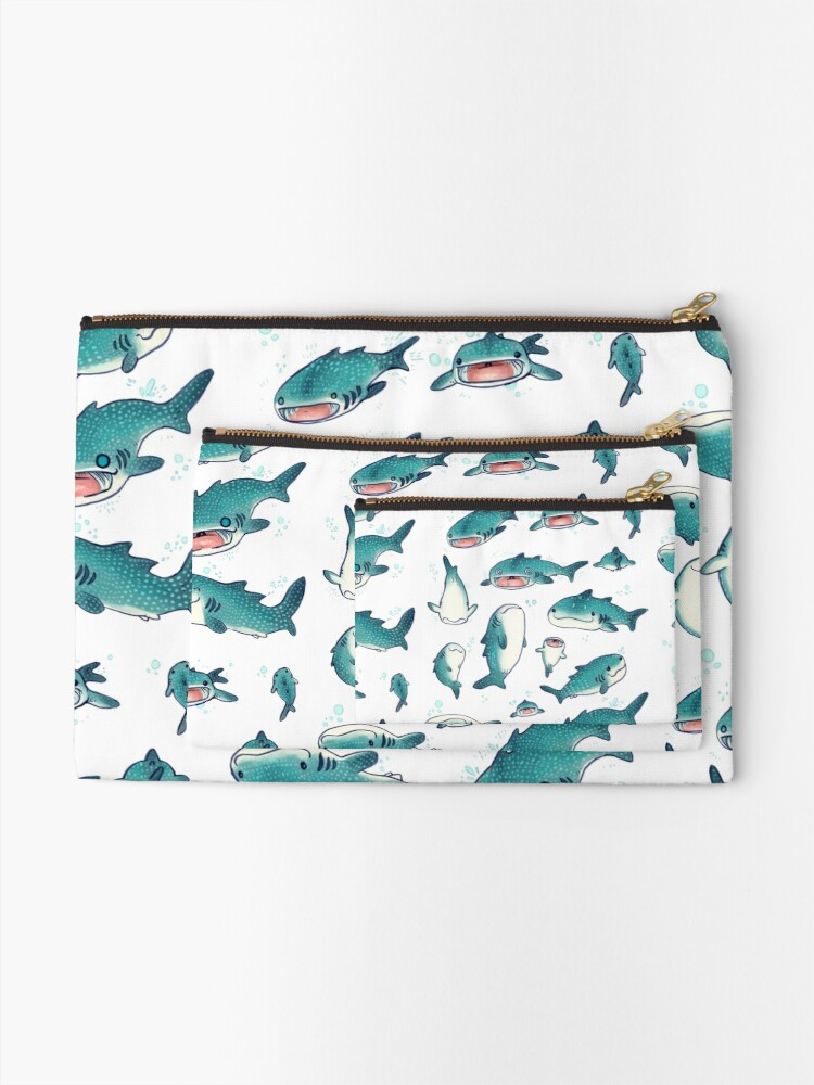 Alternate view of whale sharks! Zipper Pouch