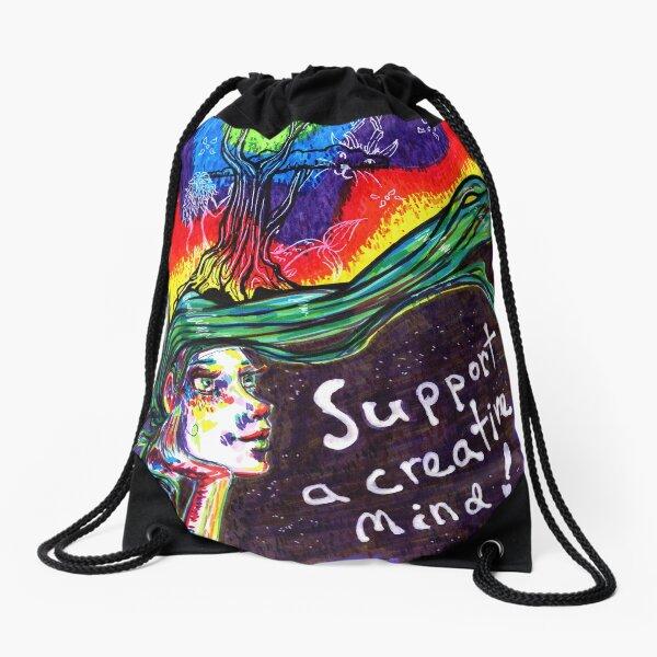 Support A Creative Mind, May, 2019 Drawstring Bag