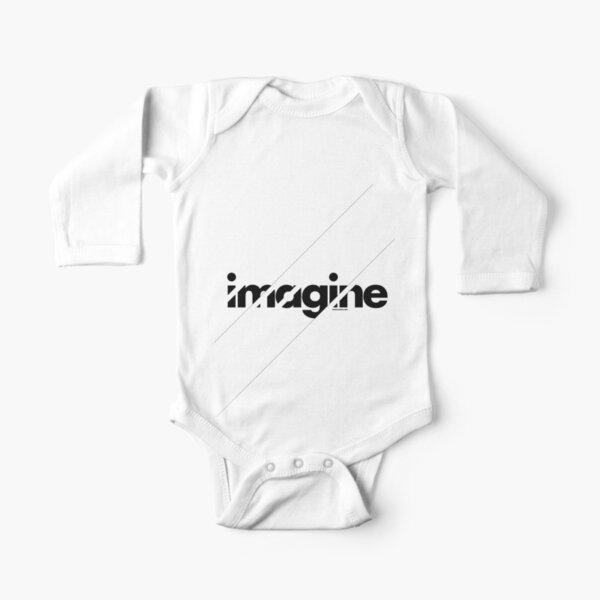Imagine under stripes Long Sleeve Baby One-Piece