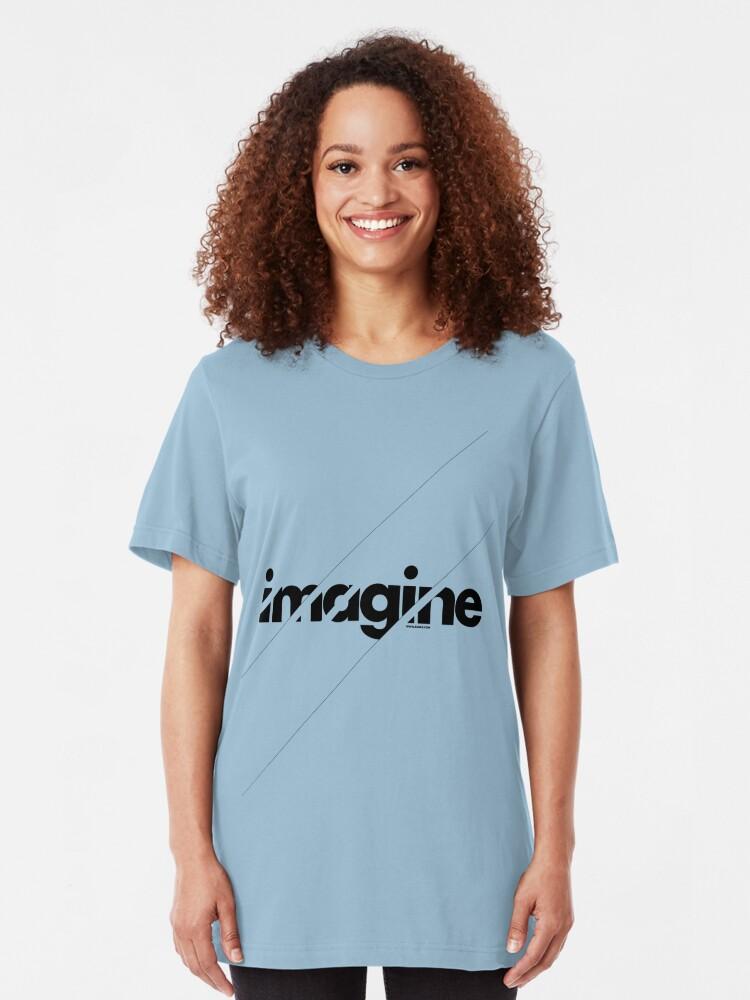 Alternate view of Imagine under stripes Slim Fit T-Shirt