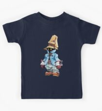 Final Fantasy 9 Vivi in Pastel &Colour Pencil Kids Tee
