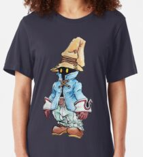 Final Fantasy 9 Vivi in Pastel &Colour Pencil Slim Fit T-Shirt