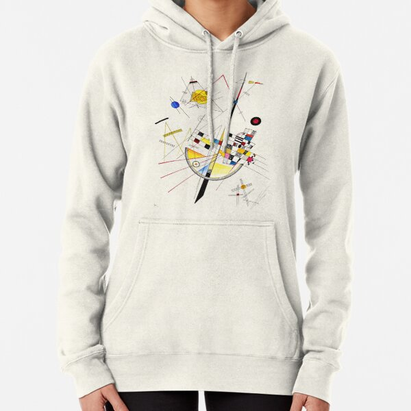 HIGH RESOLUTION Delicate Tension #85 Wassily Kandinsky Pullover Hoodie