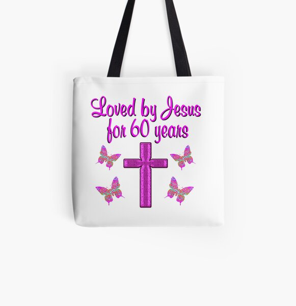 LOVED BY JESUS FOE 60 YEARS All Over Print Tote Bag