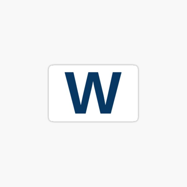 Fly the W Cubs Sticker Sticker