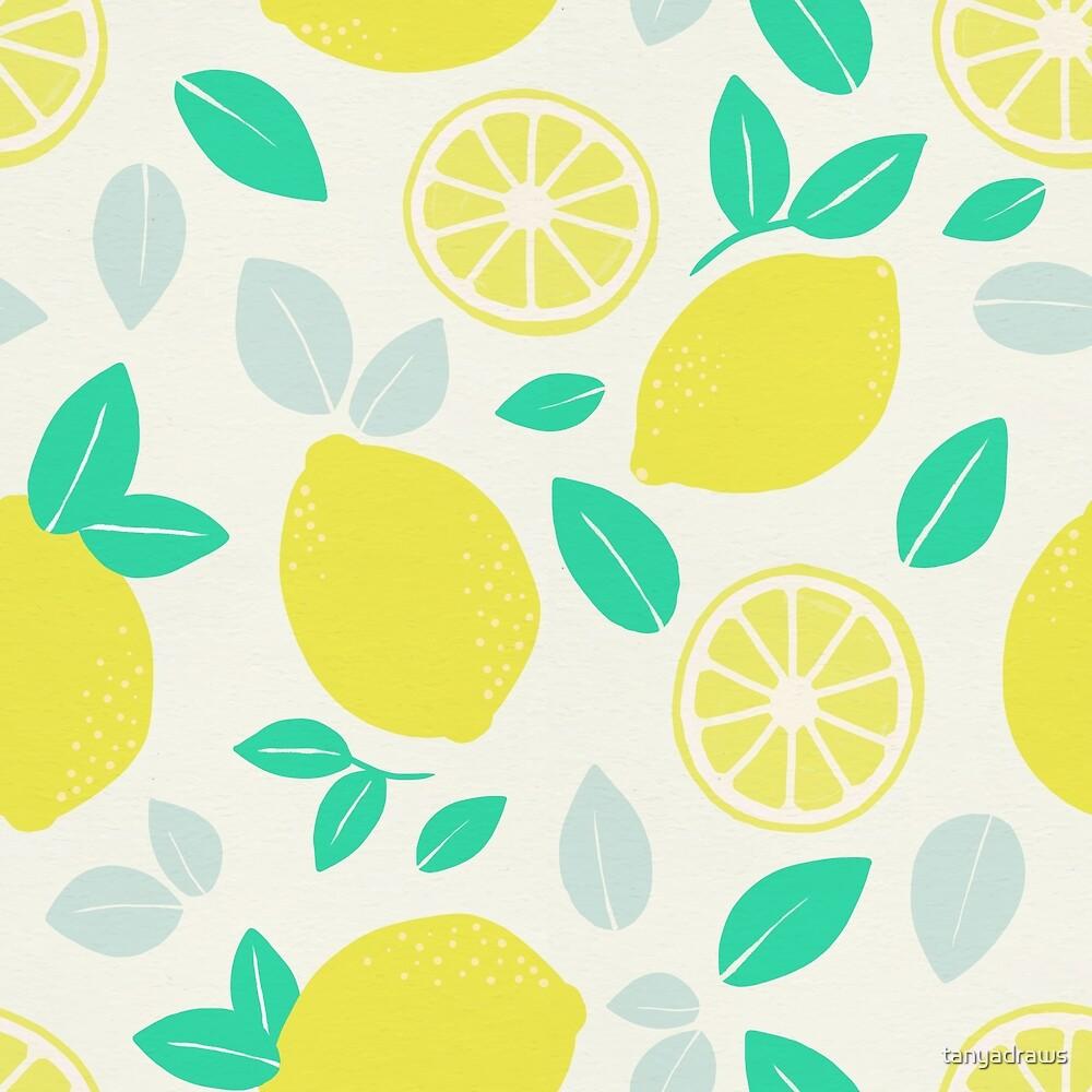 Summer Lemon Pattern by tanyadraws