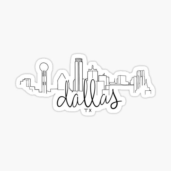 Dallas TX Skyline Sticker