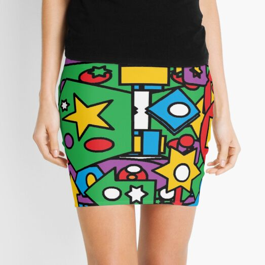 #ModernArt #VisualArts #PsychedelicArt #Illustration art vector pattern design decoration abstract tile Mini Skirt