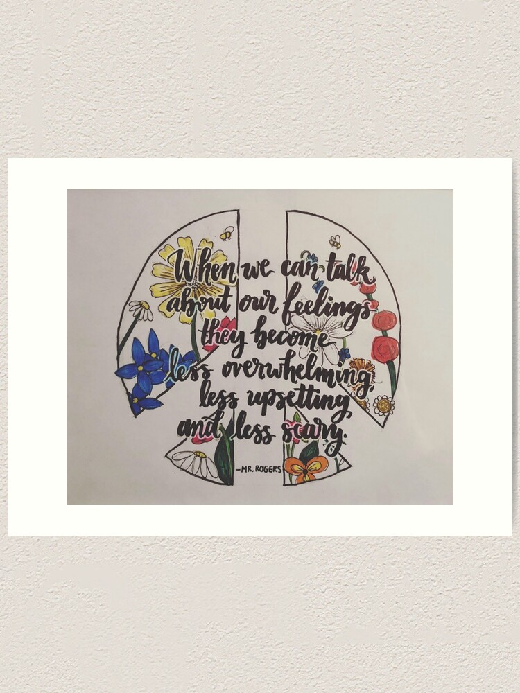 Mr Rogers Art Quote Art Print By Victoriakeith Redbubble