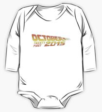 Back to the Future October 21, 2015  30 year anniversary One Piece - Long Sleeve