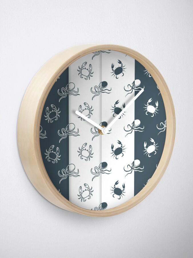 Vista alternativa de Reloj Set of 4 seamless pattern. Octopuses and crabs.