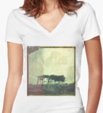 DRYAD VILLAGE Women's Fitted V-Neck T-Shirt