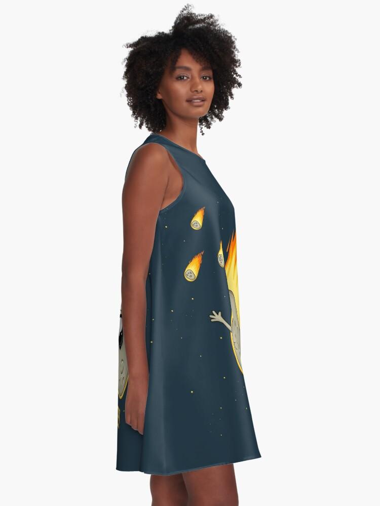 Alternate view of Cute Kawaii Asteroid A-Line Dress