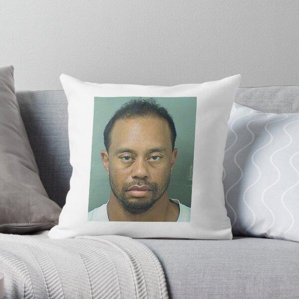 TIGER WOOD'S MUGSHOT Throw Pillow