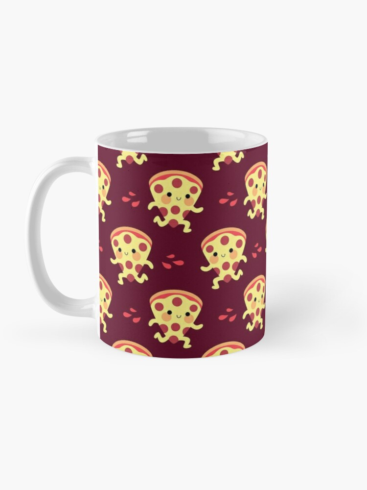 Alternate view of Cute running pizza slice Mug