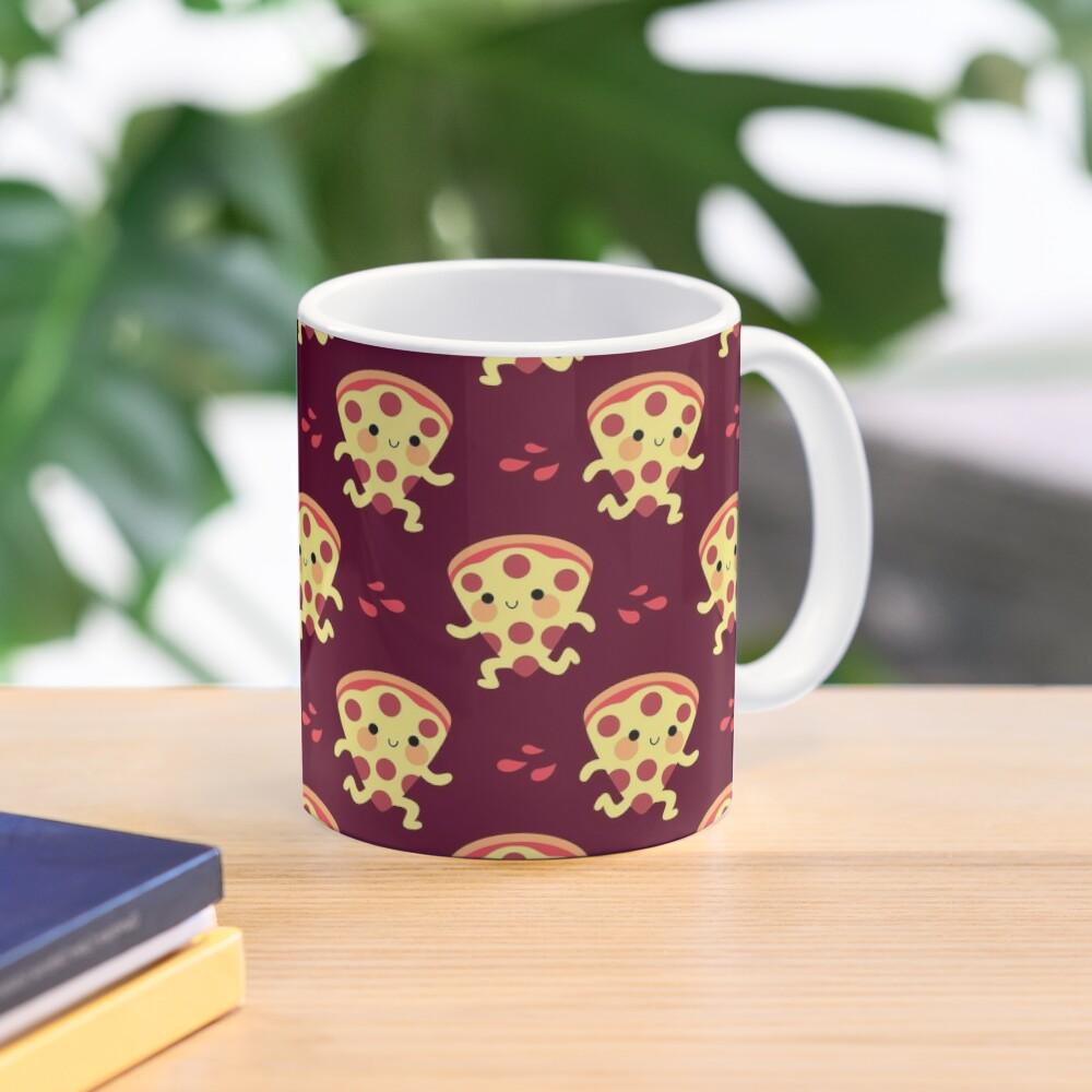 Cute running pizza slice Mug