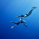 The romantic simultaneous freedive into the depth by Sergey Orlov