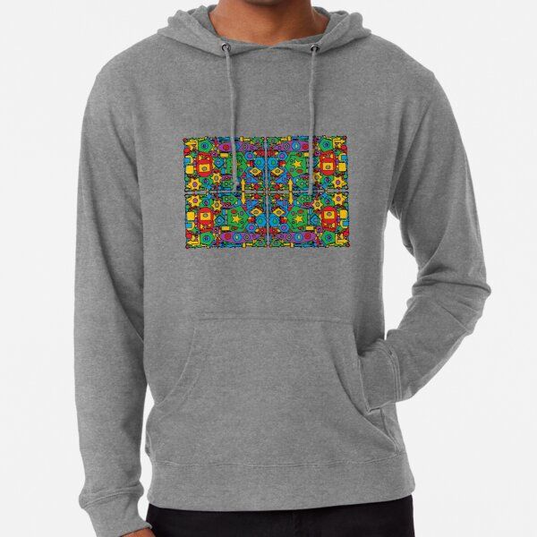 #Pattern #design #art #abstract illustration decoration textile tile shape Lightweight Hoodie