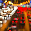 Highly defocused night freeway scene by Sergey Orlov
