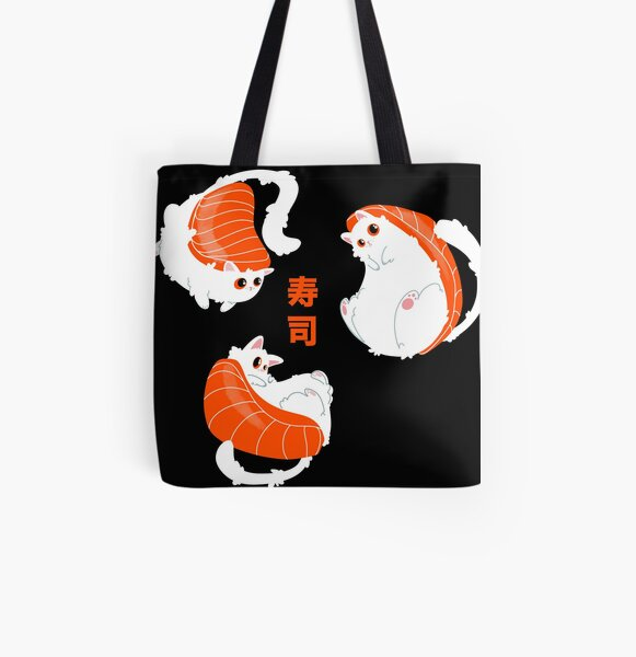 Sushi cat All Over Print Tote Bag
