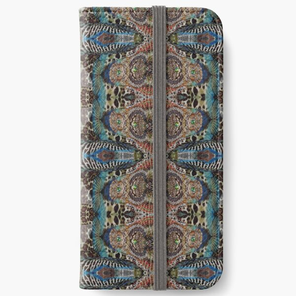 #art #decoration #pattern #ornate design antique mosaic abstract castle iPhone Wallet