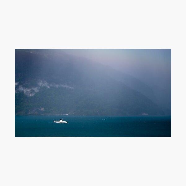 Bluemlisalp paddle steamer, Lake Thun, Switzerland Photographic Print