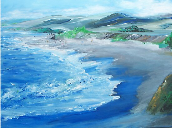 California Coastline painting by schiabor