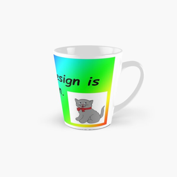 Graphic design is my passion rainbow comic sans Tall Mug