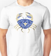 Crab – Navy & Gold Unisex T-Shirt