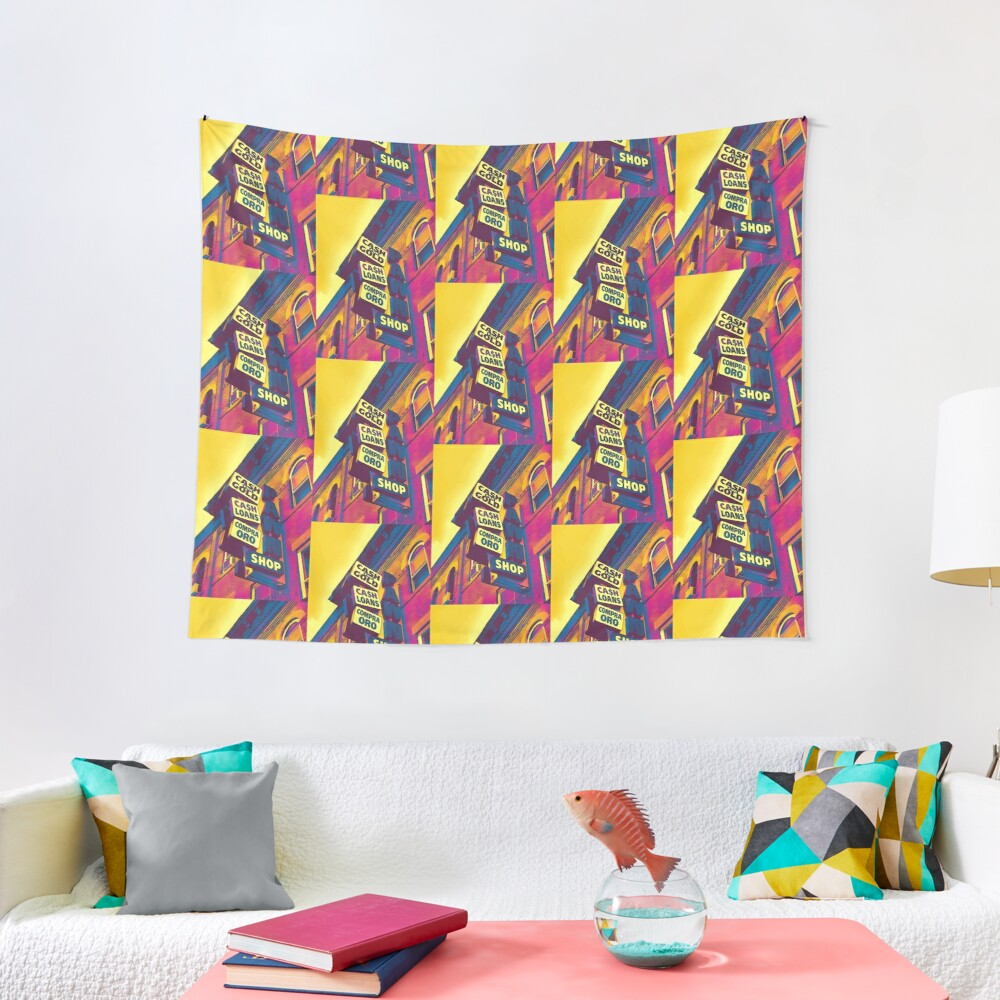 Cash for Gold - Bay Ridge Brooklyn Neon Pop Art - Urban Photography Tapestry