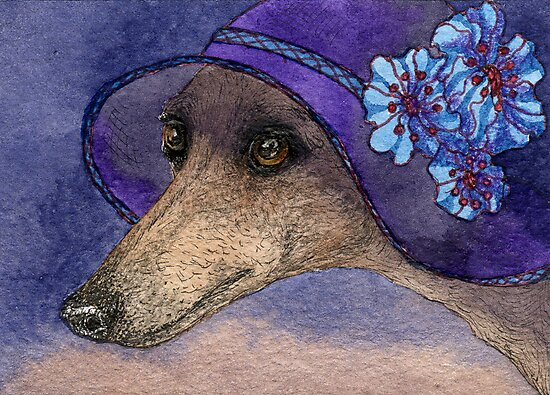 Whippet of Mystery by SusanAlisonArt
