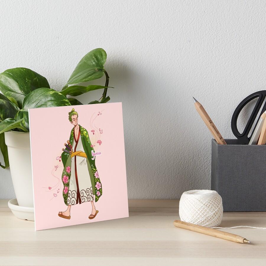 Blossom Samurai Art Board Print
