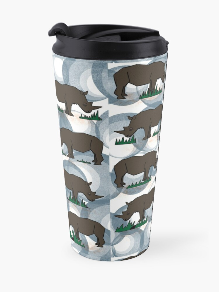 Alternate view of Dreaming of the rhinocerous Travel Mug