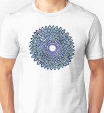 Peacock Mandala – Navy & Gold Unisex T-Shirt