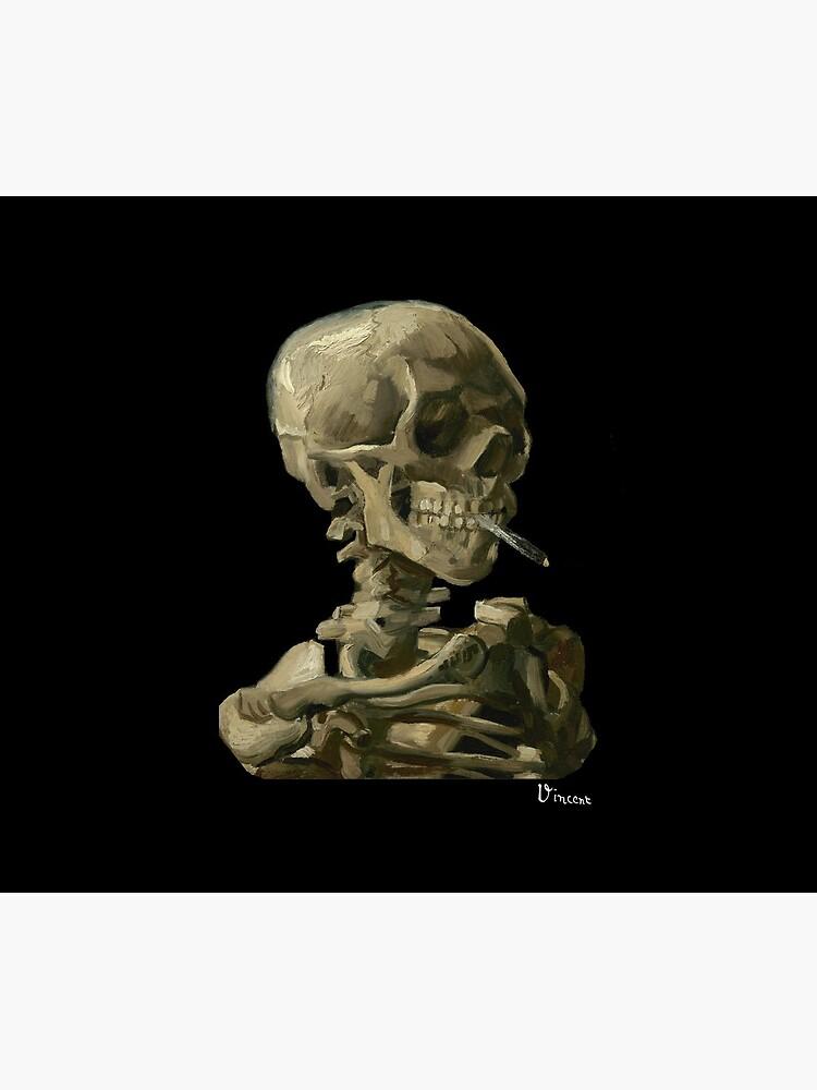 Van Gogh, Head of Skeleton Artwork Skull Reproduction, Posters, Tshirts, Prints, Bags, Men, Women, Kids by clothorama