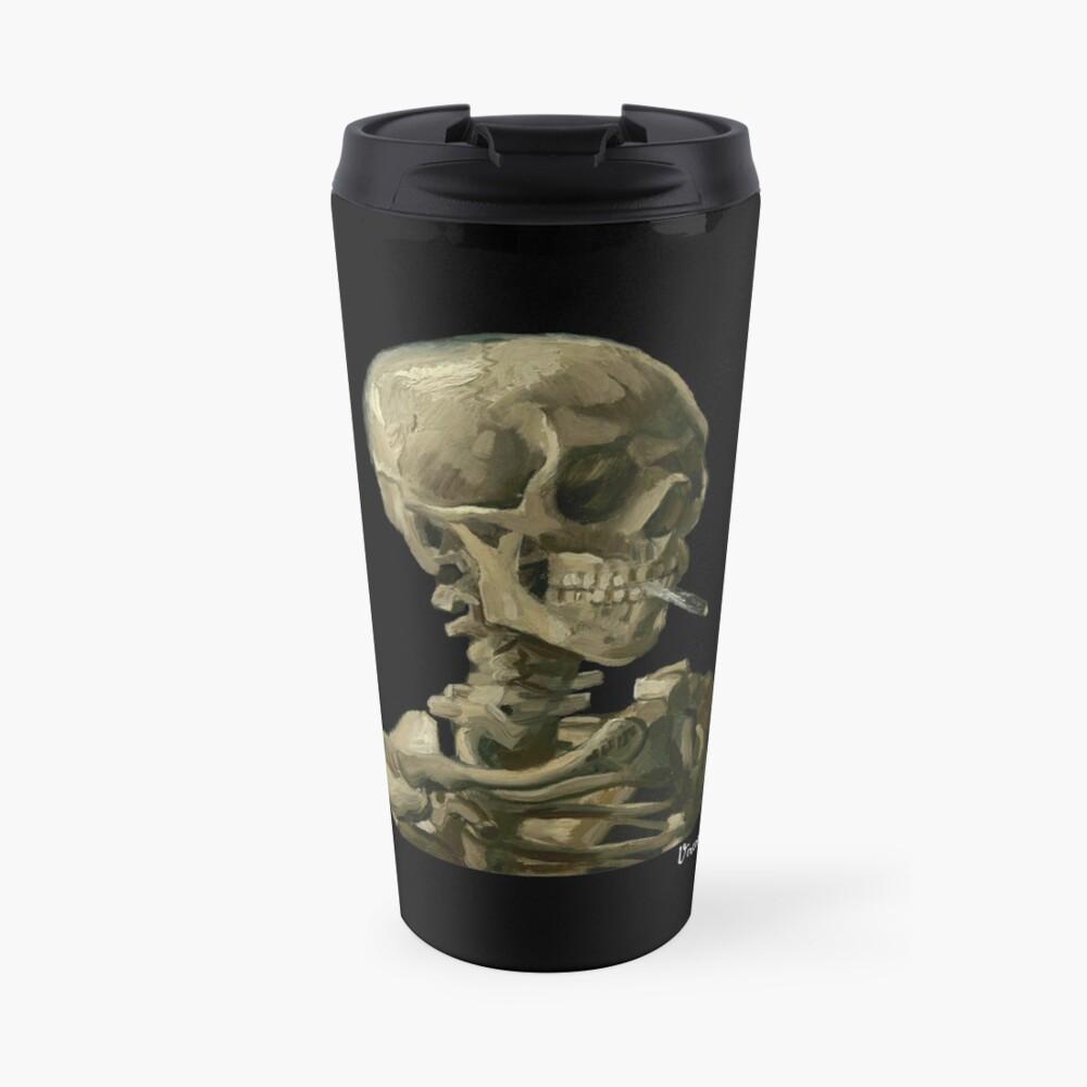 Van Gogh, Head of Skeleton Artwork Skull Reproduction, Posters, Tshirts, Prints, Bags, Men, Women, Kids Travel Mug