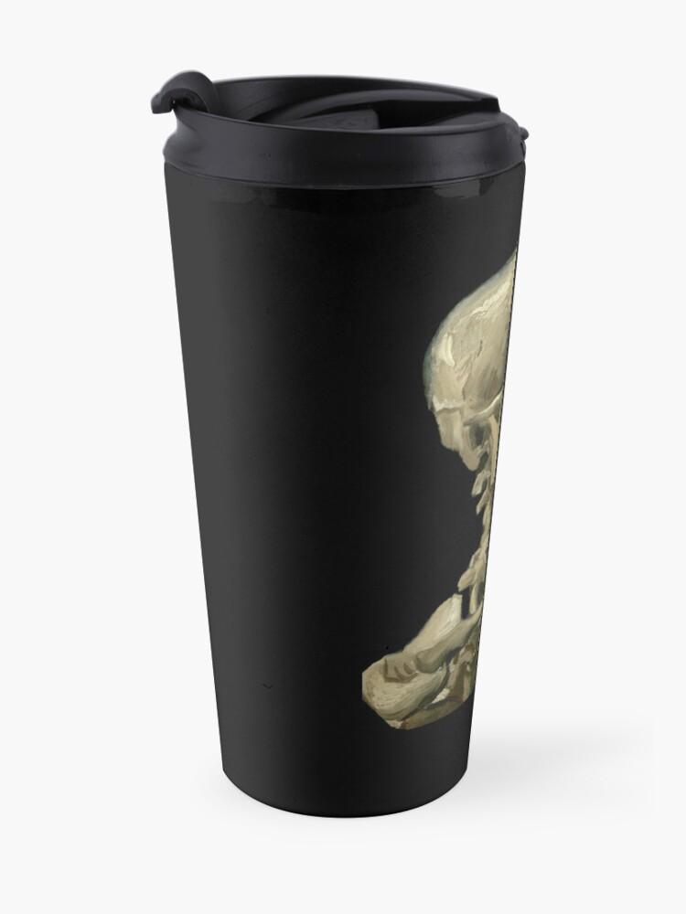 Alternate view of Van Gogh, Head of Skeleton Artwork Skull Reproduction, Posters, Tshirts, Prints, Bags, Men, Women, Kids Travel Mug
