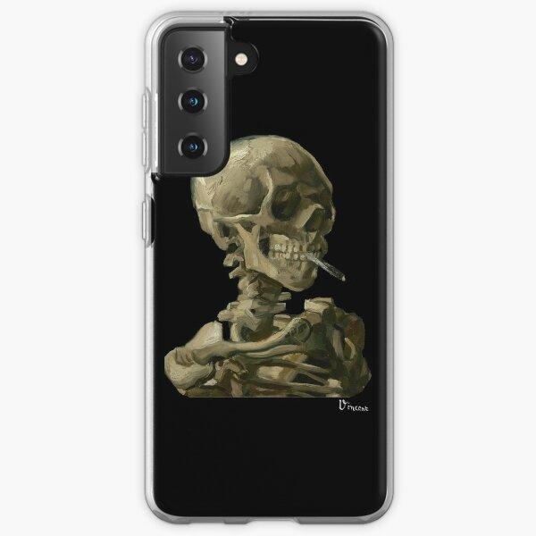 Van Gogh, Head of Skeleton Artwork Skull Reproduction, Posters, Tshirts, Prints, Bags, Men, Women, Kids Samsung Galaxy Soft Case