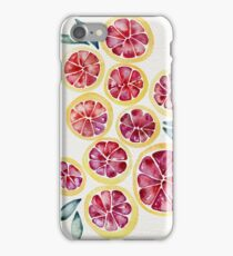 Sliced Grapefruits Watercolor iPhone Case/Skin
