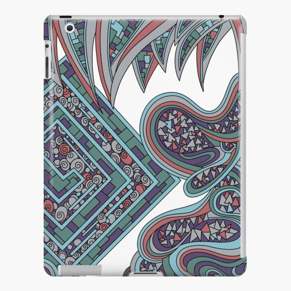 Wandering Abstract Line Art 47: Blue iPad Snap Case