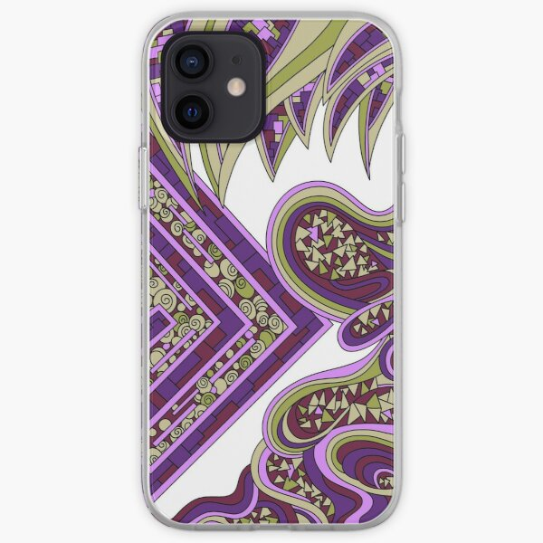 Wandering Abstract Line Art 47: Purple iPhone Soft Case