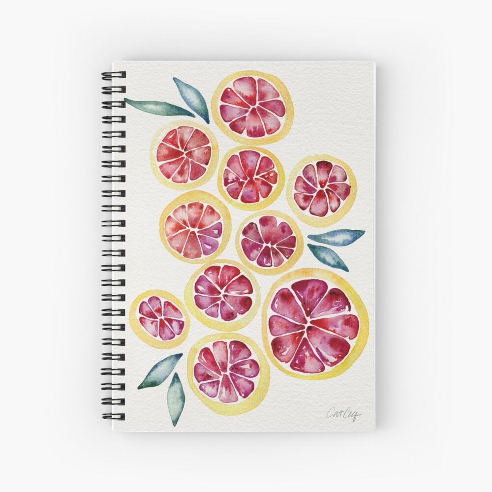 Sliced Grapefruits Watercolor Spiral Notebook