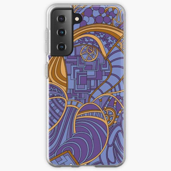 Wandering Abstract Line Art 48: Purple Samsung Galaxy Soft Case