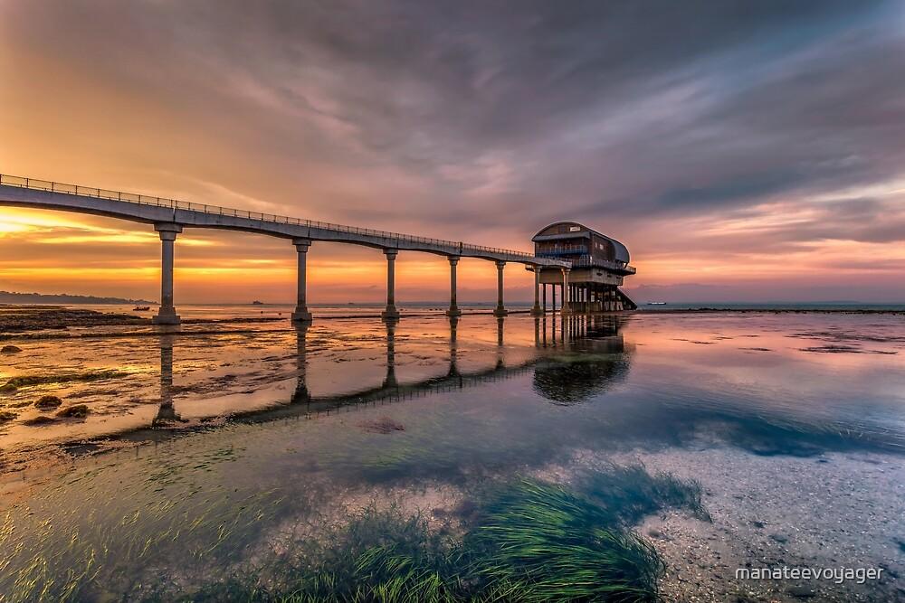 Bembridge Lifeboat Station Sunset by manateevoyager